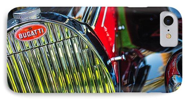 1939 Bugatti T57c Galibier Grille Emblem IPhone Case by Jill Reger