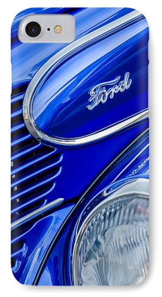1939 Ford Woody Wagon Side Emblem Phone Case by Jill Reger