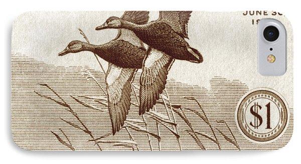 1940 American Bird Hunting Stamp IPhone Case