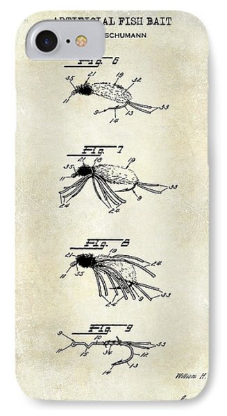 1940 Artificial Fish Bait Patent Drawing IPhone Case
