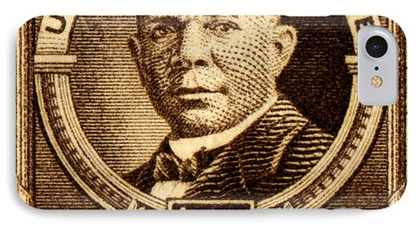 1940 Booker T. Washington Stamp IPhone Case by Historic Image