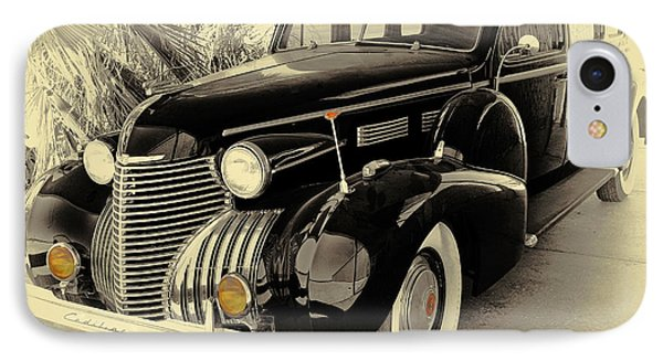 1940 Cadillac Limo IPhone Case by Tony Grider