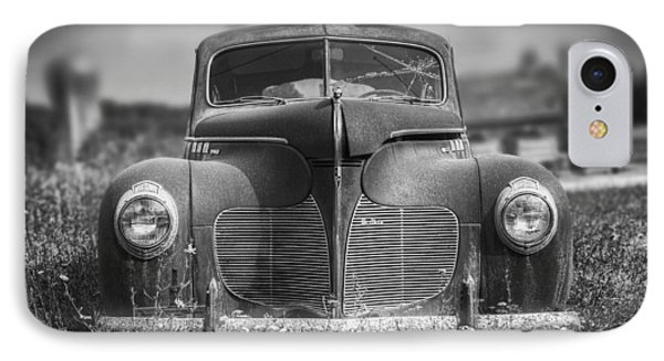 1940 Desoto Deluxe Black And White IPhone Case by Scott Norris