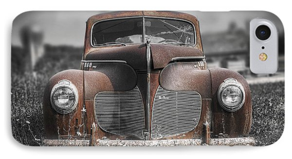 1940 Desoto Deluxe With Spot Color IPhone Case by Scott Norris