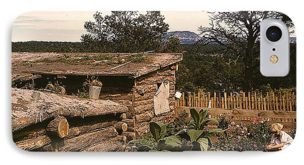 IPhone Case featuring the photograph 1940 Dugout Homestead New Mexico by Merton Allen