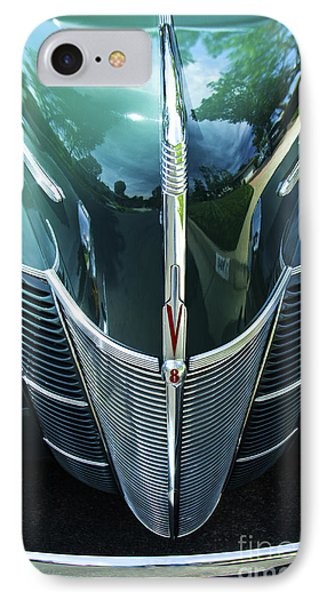 IPhone Case featuring the photograph 1940 Ford Classic Deluxe Two Door Sedan V-8 by Jerry Cowart