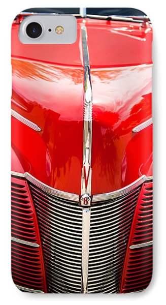 1940 Ford Deluxe Coupe Grille IPhone Case by Jill Reger