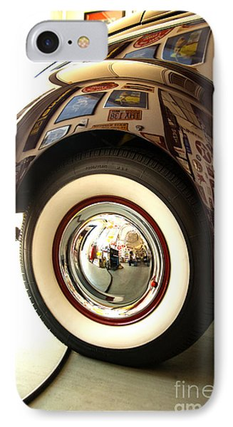 IPhone Case featuring the photograph Classic Maroon 1940 Ford Rear Fender And Wheel   by Jerry Cowart
