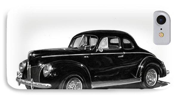 1940 Ford Restro Rod Phone Case by Jack Pumphrey