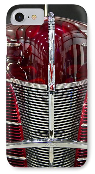 1940 Ford V8 Grill  IPhone Case by Eti Reid