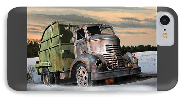 IPhone Case featuring the digital art 1940 Gmc Garbage Truck by Stuart Swartz