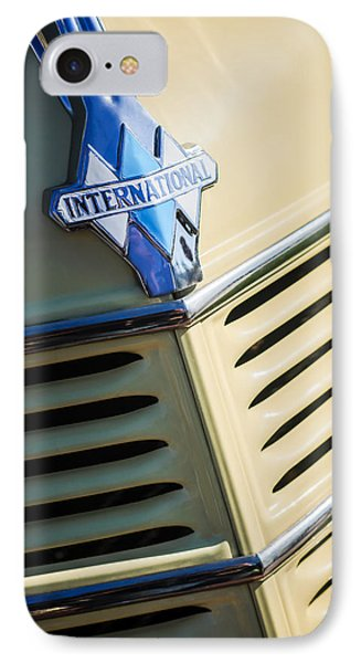 1940 International D-2 Station Wagon Grille Emblem IPhone Case by Jill Reger