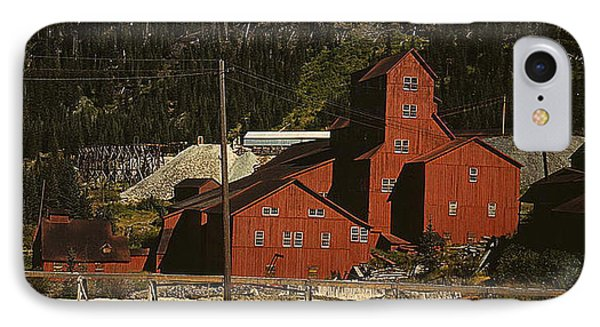 IPhone Case featuring the photograph 1940 Mill Building Camp Bird Mine Colorado by Merton Allen