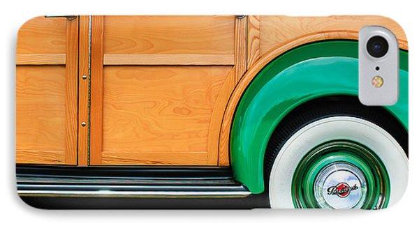1940 Packard 120 Woody Station Wagon Wheel Emblem IPhone Case by Jill Reger