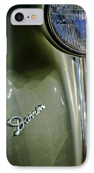 1940 Packard Super Eight One-eighty Darrin Convertible Sedan Headlight Emblem Phone Case by Jill Reger