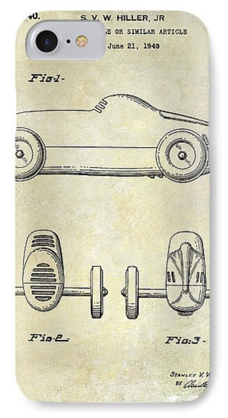 1940 Toy Car Patent Drawing IPhone Case by Jon Neidert