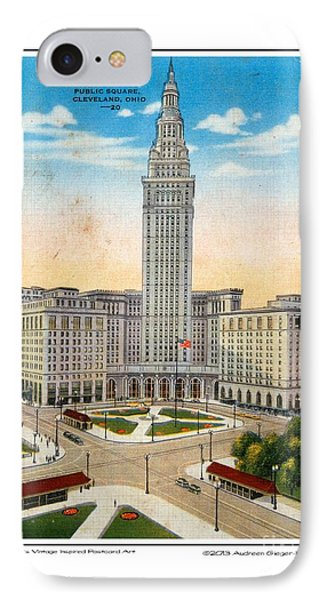 1940s Terminal Tower Cleveland Ohio IPhone Case