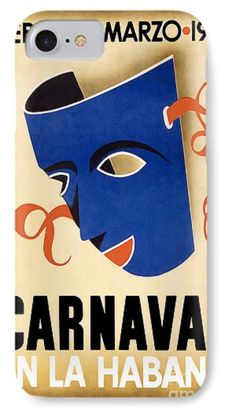 1941 Carnaval Vintage Travel Poster IPhone Case by Jon Neidert