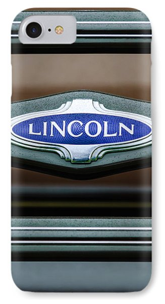 1941 Lincoln Emblem IPhone Case by Jill Reger