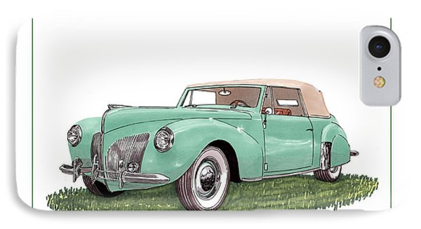 1941 Lincoln V-12 Continental IPhone Case