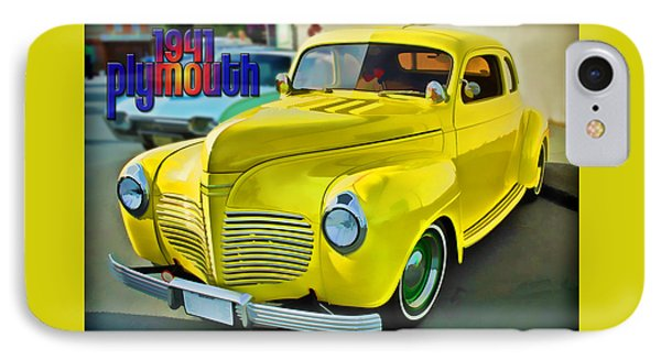 IPhone Case featuring the digital art 1941 Plymouth by Richard Farrington
