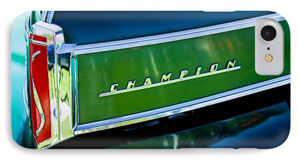 1941 Sudebaker Champion Coupe Emblem Phone Case by Jill Reger