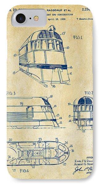 1941 Zephyr Train Patent Vintage IPhone Case