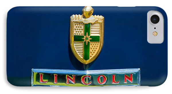 1942 Lincoln Continental Cabriolet Emblem IPhone Case by Jill Reger