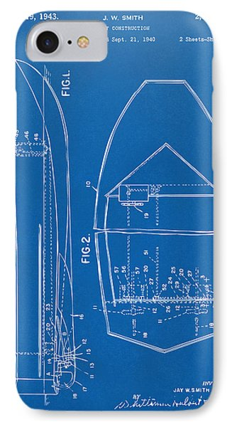 1943 Chris Craft Boat Patent Blueprint Phone Case by Nikki Marie Smith