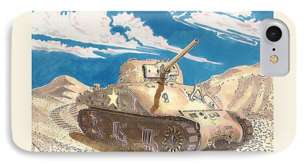 1943 Sherman M 4 Medium Taqnk IPhone Case by Jack Pumphrey