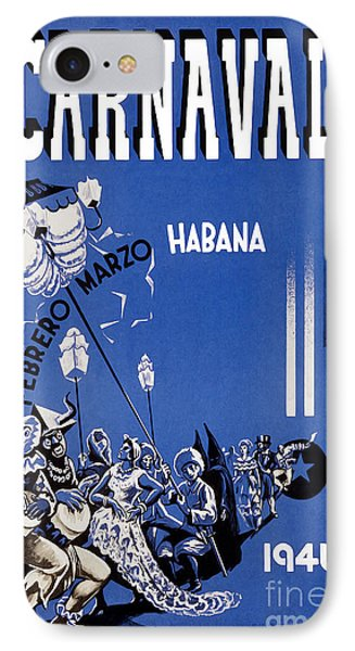 1946 Carnaval Vintage Travel Poster IPhone Case by Jon Neidert