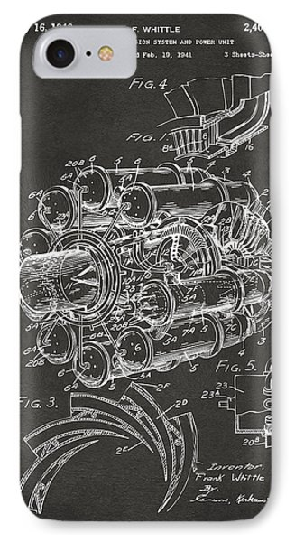 1946 Jet Aircraft Propulsion Patent Artwork - Gray IPhone Case by Nikki Marie Smith
