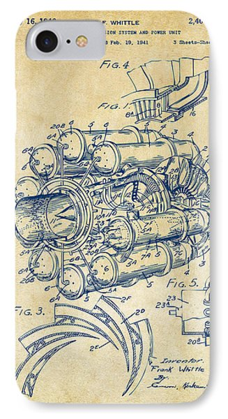 1946 Jet Aircraft Propulsion Patent Artwork - Vintage IPhone Case by Nikki Marie Smith