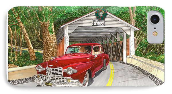 1946 Lincoln Continental IPhone Case by Jack Pumphrey