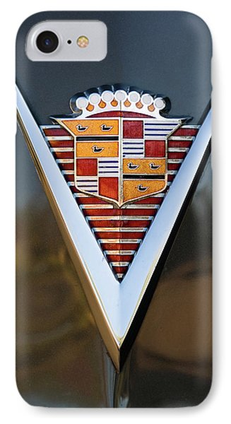 1947 Cadillac Emblem IPhone Case by Jill Reger