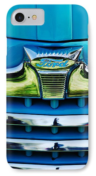1947 Ford Deluxe Grille Ornament -0700c IPhone Case by Jill Reger