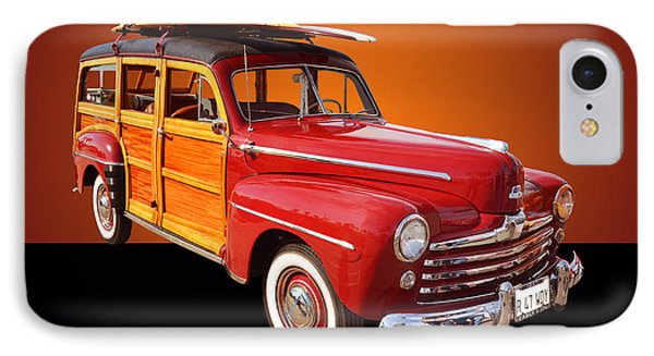 1947 Ford Woody Phone Case by Jim Carrell