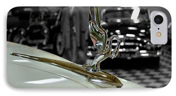 1947 Packard Hood Ornimate IPhone Case by Michael Gordon