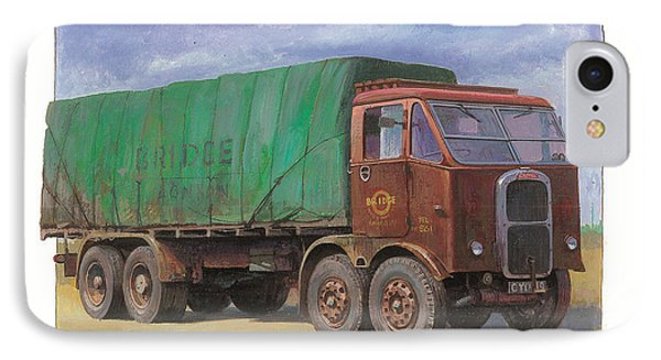 IPhone Case featuring the painting 1947 Scammell R8 by Mike  Jeffries