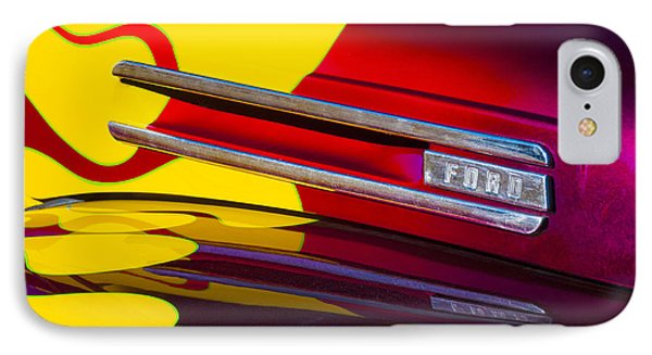 1948 Ford Panel Truck IPhone Case by Carol Leigh