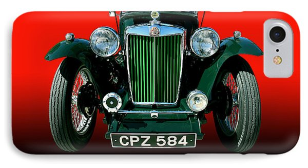 1948 Mg Tc Roadster Phone Case by Jim Carrell