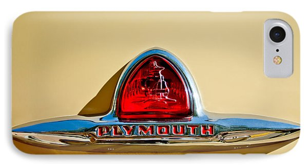 1948 Plymouth Deluxe Emblem IPhone Case by Jill Reger
