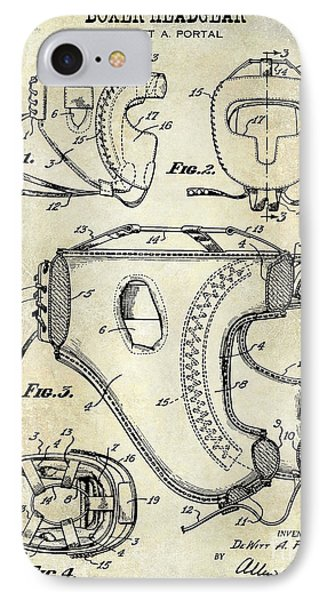 1949 Boxer Headgear Patent Drawing  IPhone Case by Jon Neidert