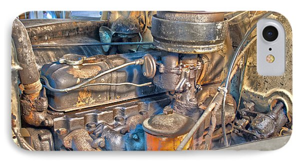 1949 Chevy Truck Engine IPhone Case by D Wallace