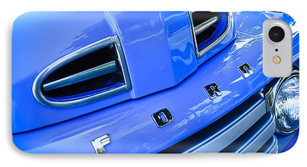 1949 Ford F-1 Pickup Truck Grille Emblem -0009c IPhone Case by Jill Reger