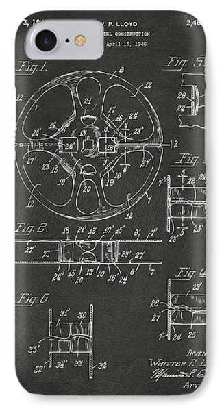 1949 Movie Film Reel Patent Artwork - Gray Phone Case by Nikki Marie Smith