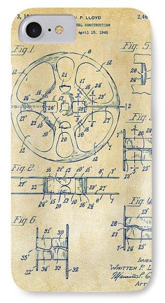1949 Movie Film Reel Patent Artwork - Vintage Phone Case by Nikki Marie Smith