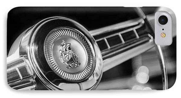 1949 Plymouth P-18 Special Deluxe Convertible Steering Wheel Emblem IPhone Case