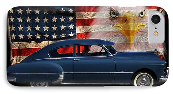 IPhone Case featuring the photograph 1949 Pontiac Tribute Roger by Peter Piatt