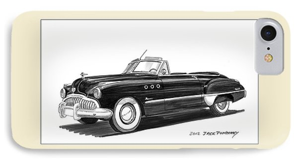 1950 Buick Special Convertible IPhone Case by Jack Pumphrey